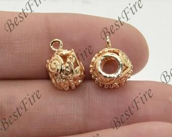 24K Gold filled Brass Charm Drum bead Pendant Findings,necklace Findings,Jewelry findings,bracelet findings,earrings findings