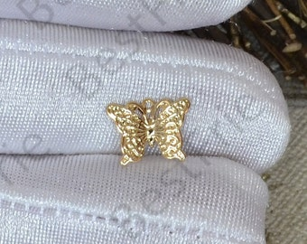 6 pcs 24K Gold plated Brass Butterfly Pendant, Butterfly pendant Connector,necklace Connector loose bead, Charms Jewelry finding beads