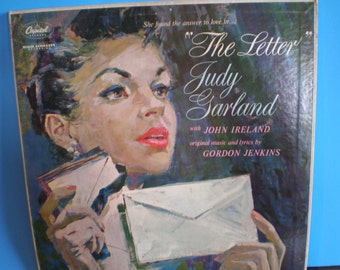 Vintage Mid Century Capital Records - Judy Garland - The Letter - Record - Album