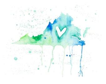 5x7 or 8.5x11 - Virginia Love