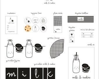 Printable Party: MILK & COOKIES
