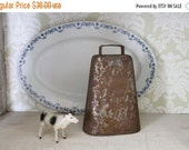 SHOP SALE Large Vintage Rustic Cow Bell