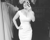 Perfect V neck lace White Wedding Dress- Made to order