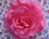 Flamenco Fuchsia  Rose Hair Flower clip