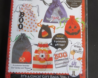 Kimberbell - It's A Cinch Gift Bags Vol. 1   - Halloween - In The Hoop Embroidery