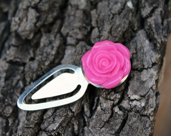 Hot Pink Rose Bookmark