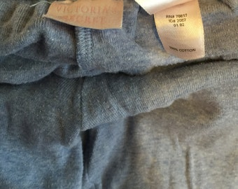 VicToria's secret leggings small/cotton pants/Longjohns/Mark extra small/light blue