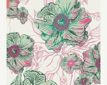 ON SALE - Foliage in Blanc (HG-7401) - Art Gallery Fabrics - Hyperreal Garden - Patricia Bravo - By the Yard