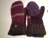 pUrple wool sweater mitten RESERVED FOR MARGARET