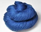 Feeling very blue OOAK - BFL Sock Yarn Superwash