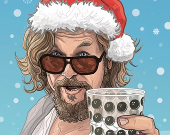 Big Lebowski Christmas card