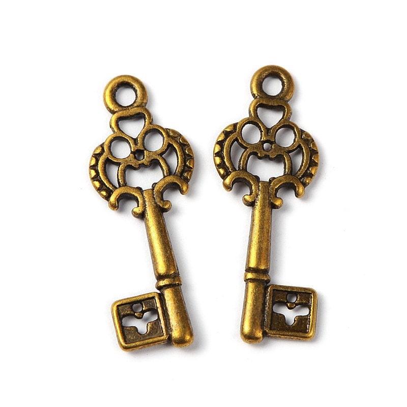wholesale key charms key pendants bulk skeleton steunk