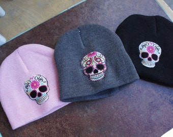 Olivia Paige -Sugar skulls  Pin up baby flower skull skeleton Hat La muerte