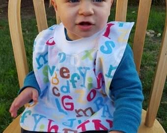 Flannel Pullover Toddler Bib