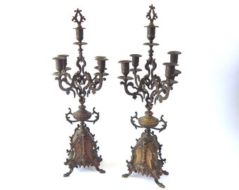 French Antique Candelabra High Quality Matched Pair in Bronze