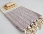 Turkish BATH Towel Peshtemal - LINEN - Beach, Spa, Swim, Pool Towels and Pareo