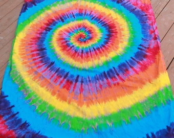 Tie dye rainbow Curtain panel
