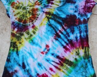 Tie Dye Galaxy tee upcycled