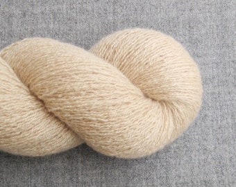 Lace Weight Recycled Cashmere Yarn, Oatmeal, Lot 070616