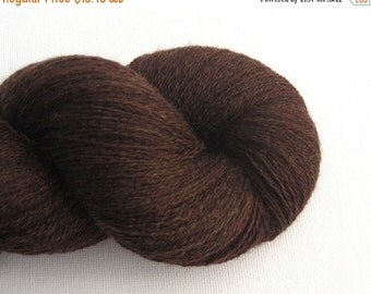 CLEARANCE Lace Weight Merino Wool Recycled Yarn, Mahogany, 1090 Yards, Lot 111114