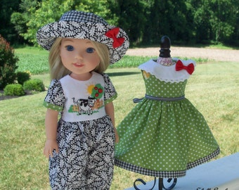 "WELLIE WISHER PRINTED Sewing Pattern: A Very Wellie Welcome! / Sewing Pattern for 14"" American Girl  Wellie Wishers"