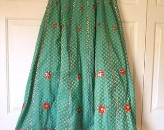 Vintage handmade India Boho maxi Skirt