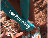 Arm warmer for running - i love running-  arm warmer, running gift, running gear, gift for runners, running sleeve