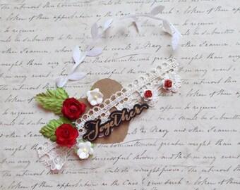 Flower Embellishment  Kit,  Scrapbooking Embellishment, Valentines Day , Card Making, Mixed Media, Tag Art, Tags, Mini Album, Art,