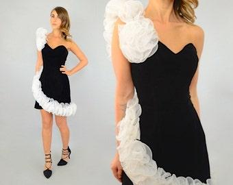 80's Origami Velvet Dress