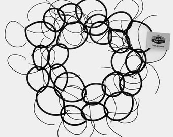 Urban Rubber Loop Necklace with Crystals