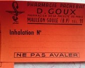 Superb batch 25 antique French pharmacie apothecary chemists labels unused c1910 INHALATION