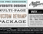RESERVED FOR STEFANIA / 2nd Payment / 4 Pg Wix Website Custom Makeover Package  - Wix WebDesign Package - Wix Pro Designer