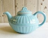 Vintage Hall China Murphy Peel Teapot - Victorian Series 1940s - Light Blue