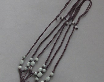 3Pieces Silk Cord Beads For Pendant--Length In 300mm  ja624