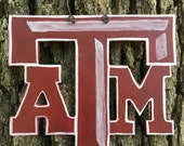 Block ATM Texas Aggie wooden ornament or wreath supply