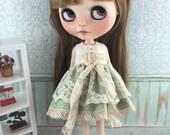 Blythe Lacey Dress - Green Spot