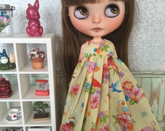 SALE Blythe Angel Dress - Tropical Vacation (yellow)