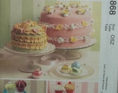 McCalls Crafts Pattern M5868  Fantasy Cakes