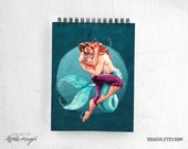 Sailor & Merman  / notepad / sketchbook