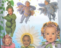 Simplicity 8273 Fairy, Pea In A Pod, Daisy, Flower, Sunflower Toddler or Baby, Infant Costume Sewing Pattern Size 1/2, 1, 2, 3 and 4 UNCUT