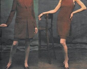 Vogue 2697 ANNE KLEIN Designer Jacket & Dress Sewing Pattern Size 12, 14 and 16