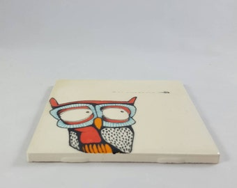 Owl tile (without frame)