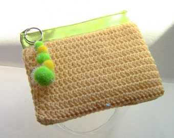 Purse, Cosmetic Bag, Makeup Bag, Zipper Clutch, Mini Purse, Travel Pouch,