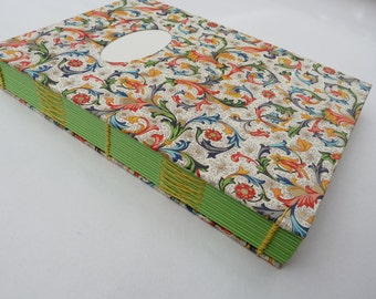 Journal, notebook, florentine, Rossi, floral, recycled, coptic, A5, thick