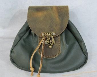 Customizable Large Tier 2 Economy Sporran Design Leather Belt Bag / Pouch Medieval, Bushcraft, LARP, SCA, Costume, Ren Faire