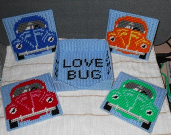 V.W. Bug Coaster Set Plastic Canvas Pattern