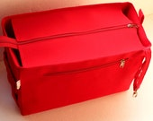 Diaper and Taller Purse organizer for Louis Vuitton Neverfull MM with Zipper closure- Bag organizer insert in Red