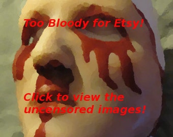 Skinned Horror Face Mask - Alysa -