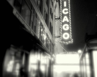 Muted Marquee // 8x10 Chicago Photography // Black & White Print