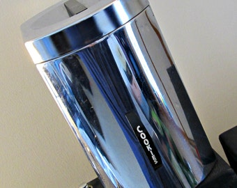 """Vintage Chrome Metal Tin """"Cookies"""" by Kromex - Perfect Kitchen Metal Lidded Canister for the Cookie Monster in You"""